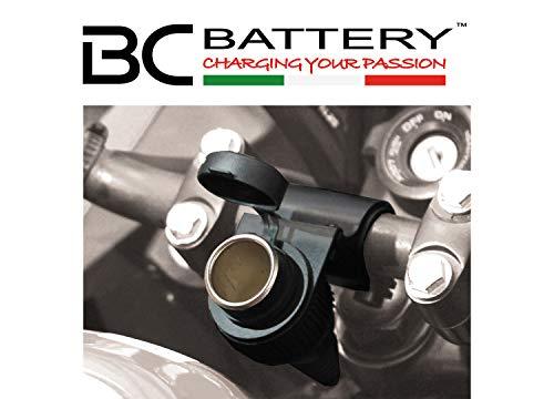 BC Battery Controller 710-P12A Prise Allume Cigare Étanche avec Support au Guidon pour Moto, 12 V- Standard