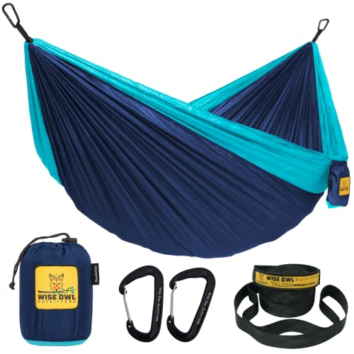 Wise Owl Outfitters Camping Hammocks - Portable Hammock Single or Double Hammock for Outdoor, Indoor...