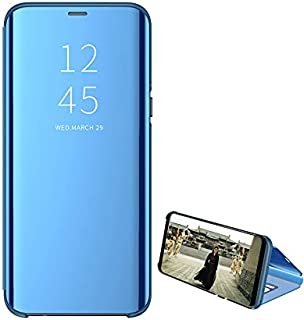 Dl3 Mobilak Samsung Galaxy S6 edge Plus / S6 Edge+ Case Mirror Flip Ultra Slim Cover Scratchproof Clear View Window Full B...