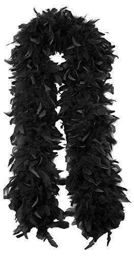 Das Kostümland Federboa Extraordinary 180 cm Schwarz