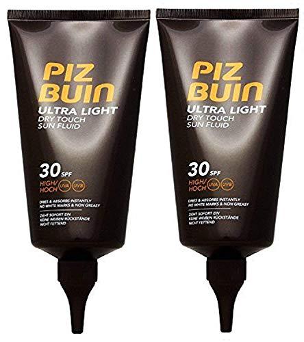 Piz Buin Ultra Light Trocken Touch Sonnencreme SPF 30 (Packung von 2) 150 ML Jeder
