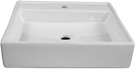 Mia Square Vessel Basin Ceramic White 440mm