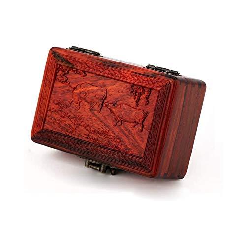 WHZG Caja joyero Decoración de joyería de Escritorio decoración Vintage Decorativo de Madera Recuerdo Organizador Joyas