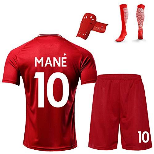 CBVB Football Kits Suit, Trainingsuniform für Erwachsene, M. Salah Mane Firmino, wiederholbare Reinigung,19-20 Trikot nach Hause,anpassbar-red10-S
