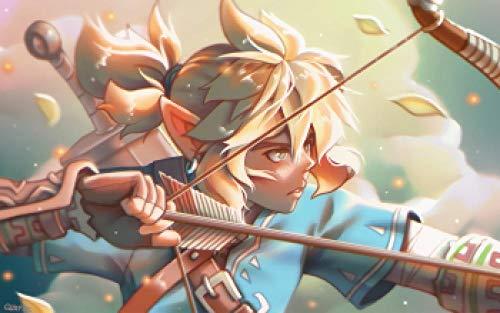 Slbtr Rompecabezas Adultos 1000 Piezas - Cartel De Tiro con Arco De Zelda Link - Puzzle Rompecabezas para Niños, Juguete De Regalo Ideal