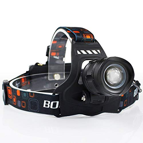 LED Headlamp 3000LM 5-Mode Zoom Headlight Rechargeable 18650 Power Bank Waterproof Head Torch for Camping