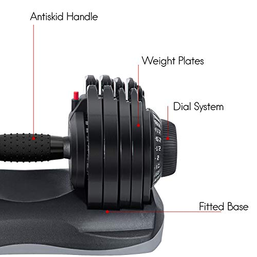 Merax Deluxe Adjustable Dial Dumbbell Review 7