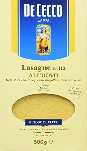 De Cecco Pâtes aux oeufs Lasagnes 500gr