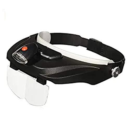 1.5X Bis 3.5X YIHUI Lupenbrille Mit Licht H/ände Frei Kopfband Lupen Mit LED Lichts F/ür Hobby,Denest,Elektriker,Juweliere,N/ähen,Handwerk,Und /Ältere Menschen-Wechselobjektive ,Schwarz
