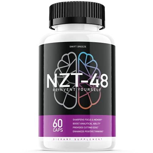 NZT-48 Limitless Pill Reinvent Yourself NZT48 Focus Memory Brain Booster Supplement (60 Capsules)