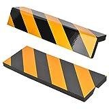 2pcs Protección para Parachoques,Protección Garaje,Tiras de Espuma Adhesivas,Espuma para Golpes,Amarilla+Negra,Protector para Esquinas Adhesivo de la Columna del Garaje para Evitar el Temido Arañazo