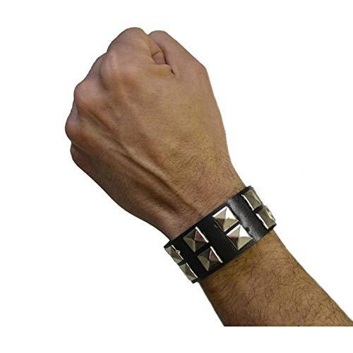 Aptafêtes - AC0328 - Bracelet de rocker 2 rangs - Taille 23 x 3.5 cm