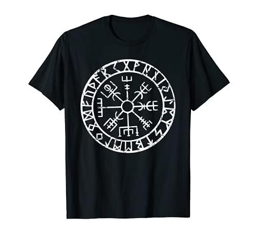 Viking Compass Vegvisir Icelandic Nordic Norse Viking Symbol T-Shirt