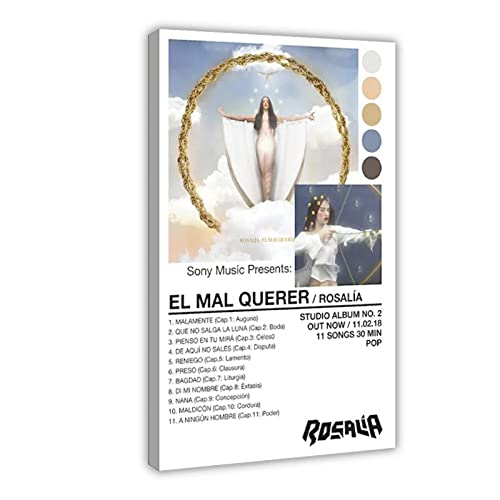 Rosalia EL MAL QUERER Toile Poster Décoration Murale pour Salon Chambre à Coucher Cadre 60 x 90 cm