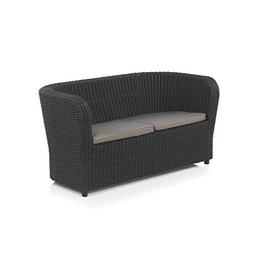 Shaf - Nova   Lounge Outdoor Sofa 2 Personen   Balkon Möbel für Terrasse oder Garten - Anthrazit
