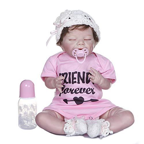 Vtops Puppen, 53 cm, weiches Silikon, lebensechte Babypuppe, realistische Kleinkinderpuppe, Geschenke für Kinder