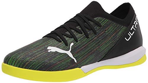 PUMA Men's Ultra 3.2 IT Soccer Shoe, Black White-Yellow Alert, 5.5