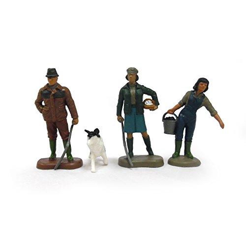 TOMY Britains Bauernfamilie - detailgetreue Spielfiguren aus Kunststoff - Bauernhofset zum Spielen für drinnen und draußen - für Kinder ab 3 Jahre
