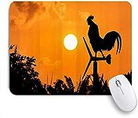 マウスパッド 個性的 おしゃれ 柔軟 かわいい ゴム製裏面 ゲーミングマウスパッド PC ノートパソコン オフィス用 デスクマット 滑り止め 耐久性が良い おもしろいパターン (ダークマウンテン火山代替風景ブラックナイトファンタジー海軍光)