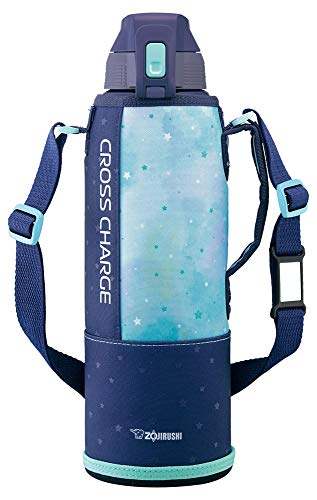 象印 (ZOJIRUSHI) 水筒 直飲み スポーツタイプ ステンレスクールボトル 1.5L ネイビーミント SD-FB15-AG