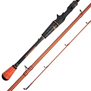KastKing Speed Demon Pro Bass Fishing Rods, Casting Rod-Mag Swimbait-8ft Extra Heavy - Fast
