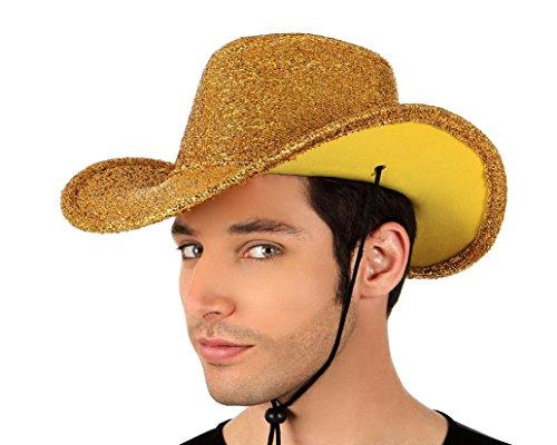 Atosa - 12461 - Chapeau de Cowboy Jaune Brillant