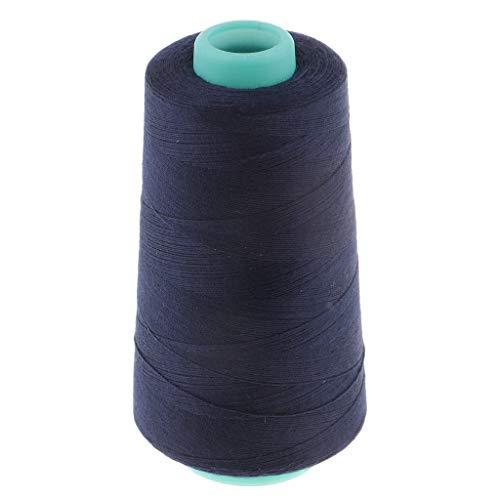 Baoblaze 1500 Yardas Hilos de Poliéster Hilo de Coser Fuerte Hebra de Costura Artesanía DIY - Azul Marino