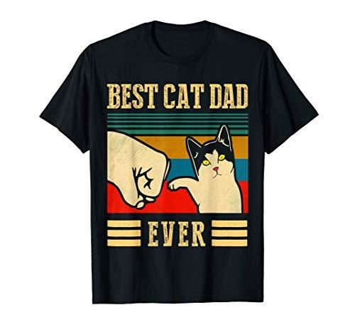 Bester Katzen-Vati überhaupt Stoß-Sitz - Best Cat Dad Ever T-Shirt