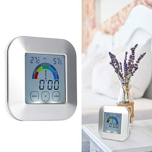 Haowecib Higrómetro Reloj, Sensor de Humedad Reloj Meteorológico Multifuncional Hidrómetro Medidor de...