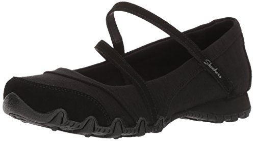 Skechers Women's Bikers -Fiesta Mary Jane Flat,10 M US,black