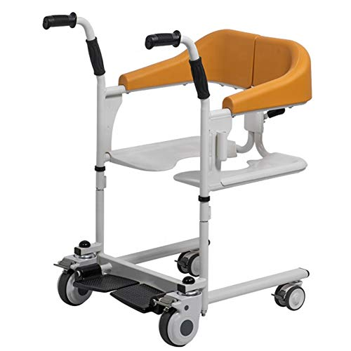 Evav-YWJ Patientenumbettung Hilfe, Multi-Funktions-4 In1 Aufzug Stühle- Rollstuhl- Bad Stuhl- Toilettenstuhl Übertragungshilfe for Senioren, Disabledand und Behinderte for Heim Hospital Care