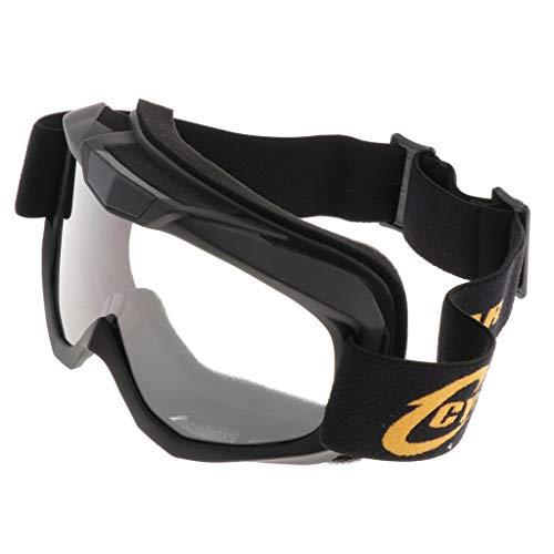B Blesiya Motocross Motocicleta Racing Goggle ATV Quad Dirt Bike Esquí Snowboard - Negro 2