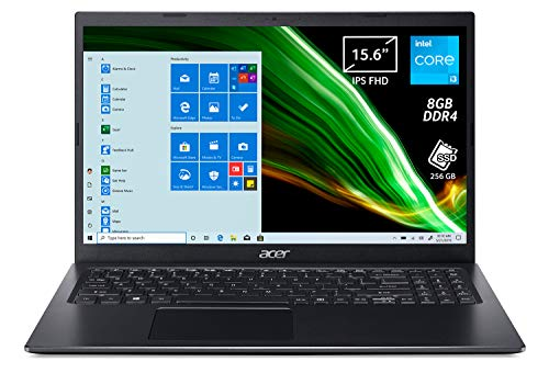 Acer Aspire 5 A515-56-36Q1 PC Portatile, Notebook, Intel Core i3-1115G4, RAM 8 GB DDR4, 256 GB PCIe NVMe SSD, Display 15.6  IPS FHD LED LCD, Scheda Grafica Intel Iris Xe, Windows 10 Home in S Mode