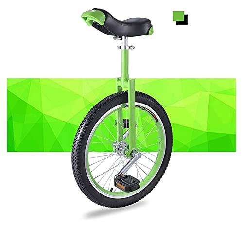Unicycles para Adultos niños, Principiantes de Bicicleta, unichicle, 16/18 / 20 Pulgadas de uNiciclos de Rueda con llanta de aleación, patín a Prueba de Llantas Equilibrio Ejercicio diversión Fitness