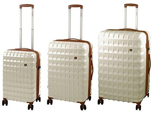 Set tre Trolley DIELLE in ABS e Policarbonato, Antracite, 53, 66 e 76 cm. TSA. Garanzia 2 anni.