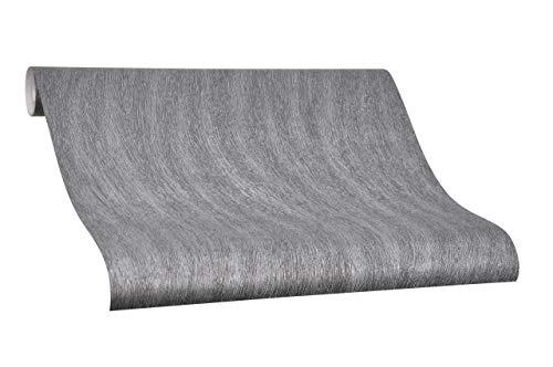 Tapete Schwarz Struktur Uni Colani Evolution für Wohnzimmer Schlafzimmer oder Küche Made in Germany 10,05m X 0,70m Premium Vliestapete 56313