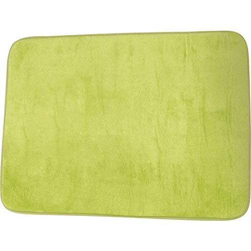 MSV 140858 Douceur Tapis à Mémoire de Forme Polyester et Polyamide + Polyuréthane + SBR Vert 50 x 70 x 0,1 cm