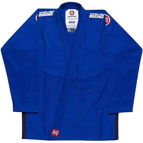 SCRAMBLE Athlete 4 Midweight 450gsm Brazilian Jiu-Jitsu Gi - A3 - Blue