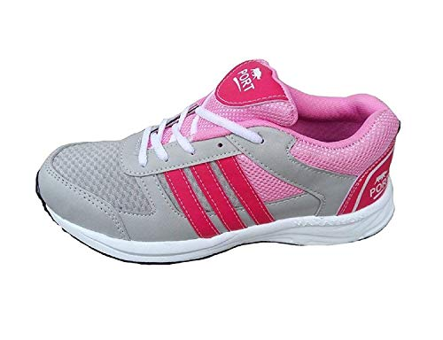 Port Women's Pink Victory Basketball Shoes (5)