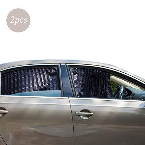 ZATOOTO Sonnenschutzrollo Auto (2 Stück), Sonnenschutz Auto Vorhang Zum Blockieren Von UV-Strahlen und Zum Schutz Der Privatsphäre, Verbessert, Verdickt, Schwarz