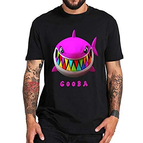 Camiseta de manga corta WAWNI Rapper 6ix9ine Gooba de algodón Hip Hop Soft Tee Homme Premium Tops Negro Negro ( L