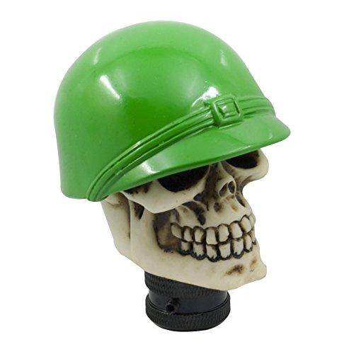 Mavota Skull knobs Soldier Head Hat Style Shift Knob Adapter for Car Truck SUV Green