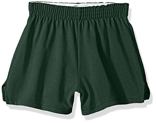 Soffe Girls' Authentic Cheer Short, Dark Green, X-Small (1-Pack)