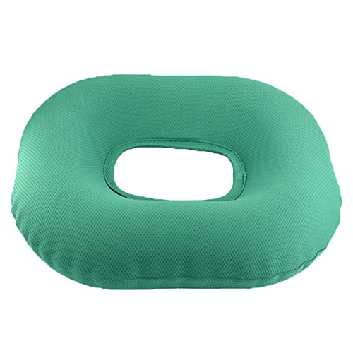XJZHAN Orthopädisches Aufblasbares Ringkissen Zur Linderung Von Rückenschmerzen Ischias Steißbein Sitzkissen Donut Cushion Green