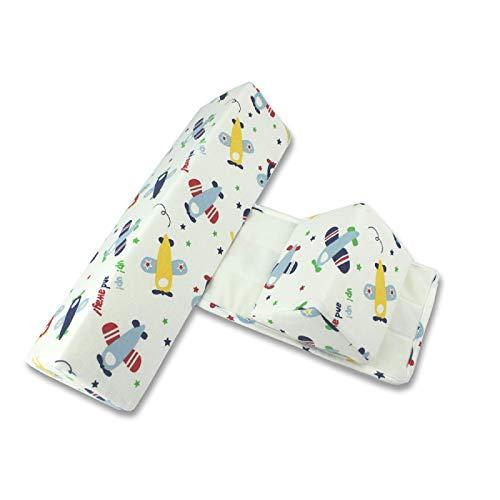 Almohada para Dormir Lateral para bebé, cojín Antideslizante Triangular Ajustable antivuelco para bebés, Adecuada para recién Nacidos y bebés de 0 a 6 Meses, cómoda y Suave (avión) 🔥