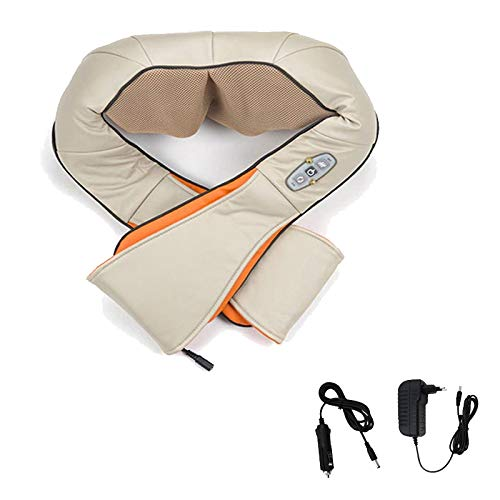 Hengda Schulter Massagegerät Elektrisch für Nacken Rücken Shiatsu Nackenmassagegerät mit Wärmefunktion 3D-Rotation Massage für Haus Büro Auto