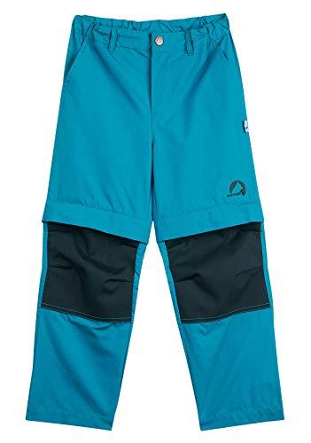 Finkid Jungen URAKKA Outdoorhose mit Verstärkungen 1322006 in Seaport, Farbe:Blau, Kleidergröße:130/140