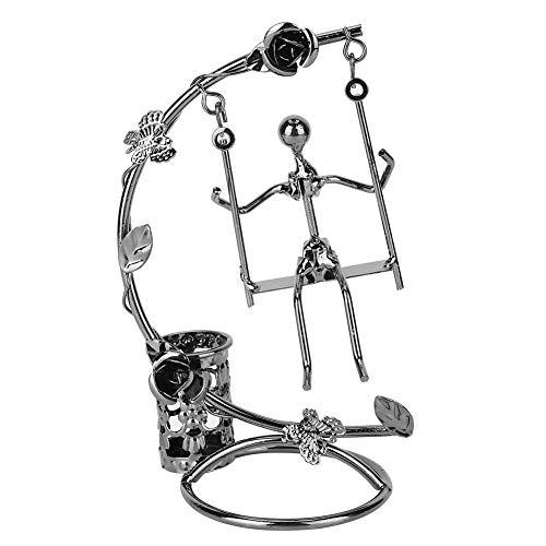 Nikou Pennenhouder, ijzeren schommel, pen, organisator, decoratieve tafeldecoratie, ornament voor thuiskantoor