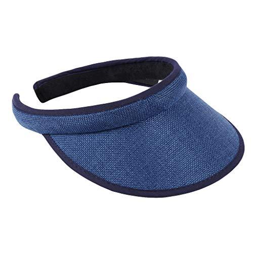 KUDICO Sonnenhut Unisex Sommer Visor Sun Hat UV-Schutz Schirmmütze Visoren Hüt Outdoor Einstellbare Sport Tennis Golf Cap (Blau, One Size)
