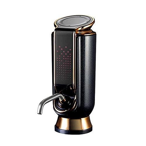 Kettles Aerador de Vino eléctrico USB Decantador de Vino de dispensador con Cargo con DIRIGIÓ Pantalla Smart Touch Voderer de Vino para la Fiesta de Vino Rojo y Blanco (Color : Black)